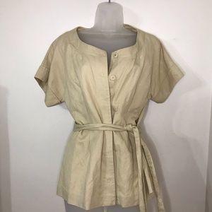 White House Black Market shirt W/Belt , NWT Size 8